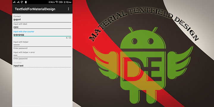 Android Textfield For Material Design (Android L)