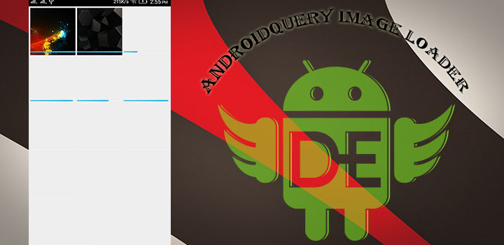 Android Query Image Loader With GridView For Android.