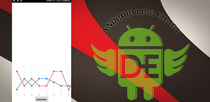 Draw Android Line Chart With Animation.