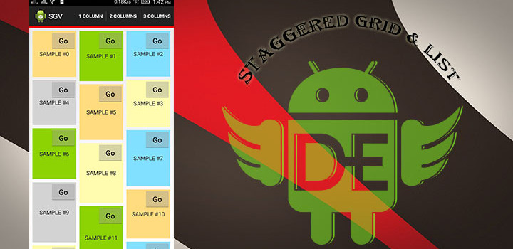 Android Staggered Grid & List View.